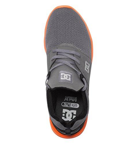 DC Shoes Baskets Heathrow SE GRA GR/OG Gris & Orange