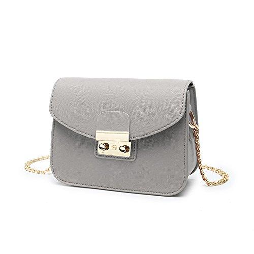 Estate mini pacchetto selvaggio, borsa a tracolla femminile coreana, zaino obliqua, borse, pacchetto catena ( Colore : Rosso ) Grigio