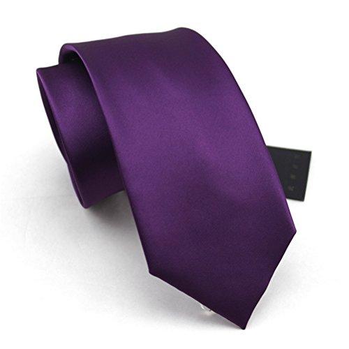 fan-tastik-herren-umweltfreundlich-mode-einfarbig-regular-krawatte-3-8cm-lila