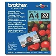 Brother BP71GA4 - Pack de 20 hojas de papel fotográfico Glossy Premium A4 (260 g/m2)