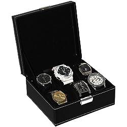 Hochwertige Uhrentruhe/Uhrenbox für 6 Uhren - Uhrenschatulle