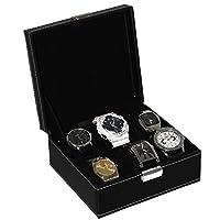 Oramics - Coffret à montres en noir - Idéal pour le rangement de 6 montres - Design Intemporel - Finition de haute qualité