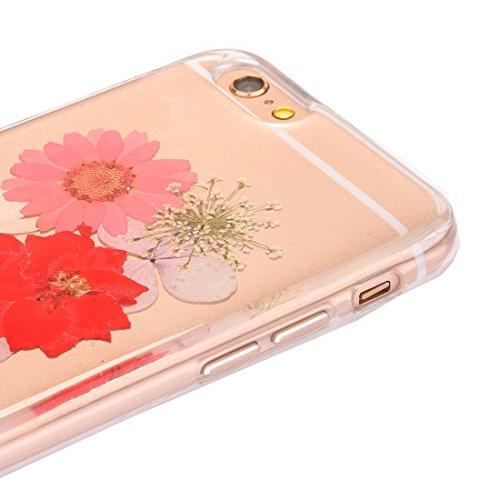 Phone case & Hülle Für iPhone 6 Plus / 6s Plus, Epoxy Dripping gepresste echte getrocknete Blume weichen transparenten TPU Schutzhülle ( SKU : Ip6p2996q ) Ip6p2996h
