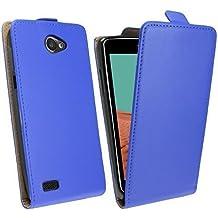 Funda con tapa para LG Bello 2 (X150) @ en azul funda Energmix