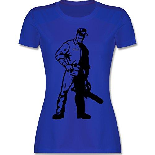 Handwerk - Holzfäller - tailliertes Premium T-Shirt mit Rundhalsausschnitt für Damen Royalblau