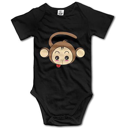 PhqonGoodThing Unisex Infant Tongue Monkey Romper Babysuit Jumpsuit Onesie Bodysuit Monkey Infant Bodysuit