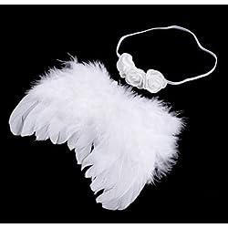 Lavillede Miniköpfchen mit Engelsfeder Wings Baby Fotografie Requisiten