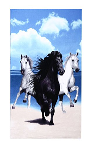Black Temptation Sport & Heim Handtuch Plus-Badetücher/Handtücher / Badetücher -Laufendes Pferd