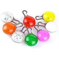 Mascota con clip, collar de perro con luz LED - Luces para perros para collares, Luces de seguridad impermeables de perros y gatos para caminar por la noche, Baterías de repuesto incluidas, Regalos para mascotas(Color aleatorio)