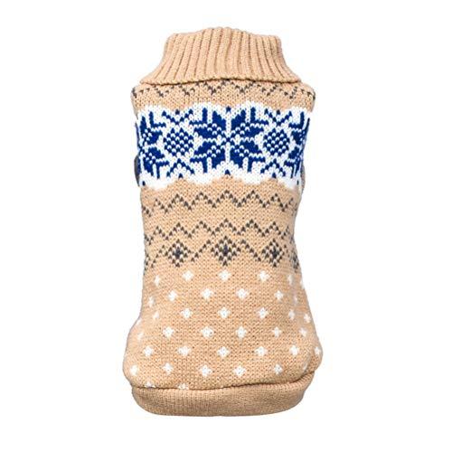 Bluelucon Nette Hundekatze-Welpen-Kleidungs-Strickjacke Welpen-Hemd-weiche Mäntel Hund Hundepullover Hundepulli Winter Strickpullover Sweater Cardigan Weihnachten Fasching Kostüme