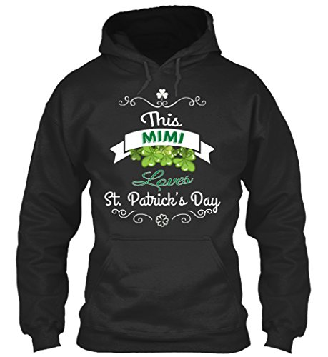 teespring Men's Novelty Slogan Hoodie - This Mimi Loves ST Patrick's Day