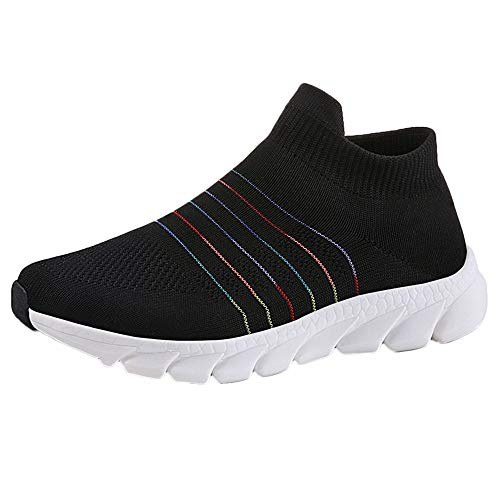 Frenchenal Femme Baskets Chaussures de Sport Running Slip on Chaussures de Course Gym Respirant