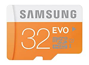 Samsung 32 GB Evo MicroSDHC UHS-I Grade 1 Class 10 Memory Card without Adapter