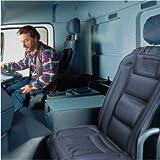 ObboMed SH-4164 24V beheizbares Sitzkissen mit Lendenstützung, DELUXE Model mit Premium Stecker für Zigarettenanzünderdoser für LKW, Nutzfahrzeuge, Van, Boot und Bus