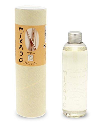 Blanc Jasmin – Mikado recharge pour diffuseur 200 ml (avec gratuit anches)