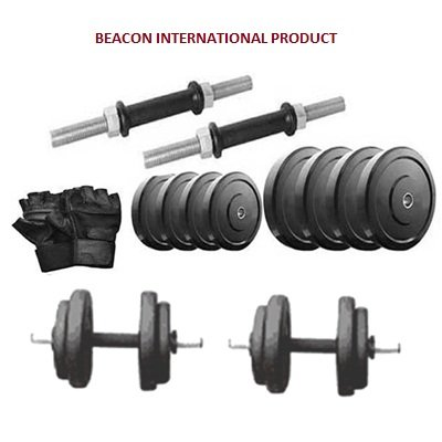 beacon international rubber dumbells sets 20 kg , rubber weight plates, dumbbell rods, gym gloves Beacon International Rubber Dumbells Sets 20 Kg , Rubber Weight Plates, Dumbbell Rods, Gym Gloves 41AIegYQ6yL