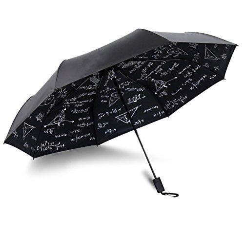 Falten UV Regenschirm Student Formel tragbaren Regenschirm, kreative Haushalt kompakte Mädchen Regenschirm (schwarz + weiß) HUACNG ( Farbe : B ) (Senior Formel)