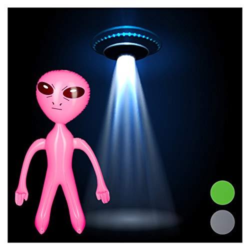 Relaxdays - Statuetta Gonfiabile a Forma di Alieni per marmellata, Motivo Sci/Fi, in PVC Senza BPA, Dimensioni: ca. 61 x 35 x 14 cm