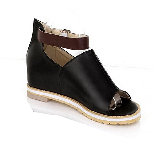 Balamasa da donna, aperti in punta, tacco basso, con motivo a sandali Black