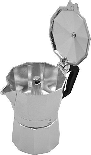 Argon Tableware 3 Cup Italian Style Stove Top Espresso Coffee Percolator. Traditional Design