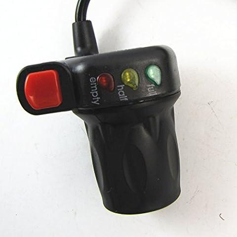 Vélo électrique Vélo 3 affichage de la puissance LED auto-commutateur de verrouillage Throttle Universal 36V