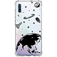 Oihxse Transparente Silicona Funda Compatible con Samsung Galaxy A9 Star/A8 Star Carcasa Ultra-Delgado Suave TPU Gel Airbag Esquinas Anti Rasguños Lindo Protector Case Bumper(A5)