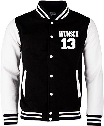 acke Wunschname und Wunschnummer & Partnerlook College Jacke | Baseball Jacke ()