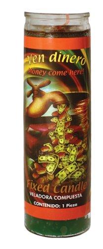 MAGIE/MYSTIK/KOMPLETTRITUAL: Magische Kerze aus Glas MONEY COME HERE (Geld) - Geld Kerze