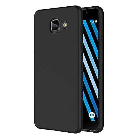 Coque Samsung Galaxy A3 2016, AICEK Noir Silicone Coque pour
