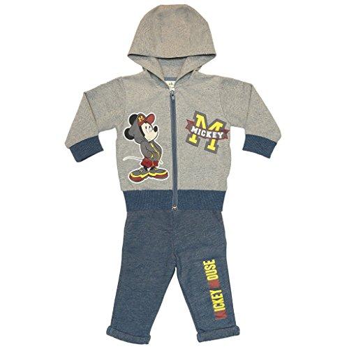 Jungen Mickey Mouse SPORT-ANZUG zweiteilig, Sweat-Jacke mit langer Hose, GRÖSSE 68, 74, 80, 86, 92, 98, 104, 110, Jogging-Anzug mit Hoodie /...