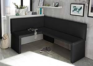mystylewood coin de repas olga faux cuir banc d angle banquette de cuisine salle manger. Black Bedroom Furniture Sets. Home Design Ideas