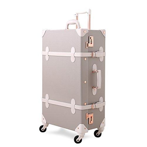 UNITRAVEL Koffer Vintage Hartschale 72 Zentimeter 55 Liter 4 Räder Hellgrau Nummernschloss