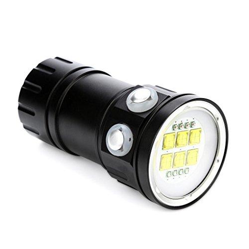 Tauchen Taschenlampe,OHQ Dive Taucher Lampe Unter Wasser 80m 1000 Lumens Waterproof Search Light Unterwasser-Fackel Wasser Sport Submarine Licht Lampe(A) Maglite O-ring