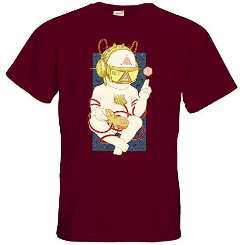 getshirts - Rocket Beans TV Official Merchandising - T-Shirt - Zukunftskind Burgundy