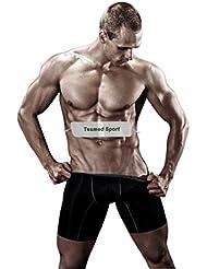 Tesmed Sport: Bandeau auto-agrippant pour électrostimulateur–Idéal pour abdominaux