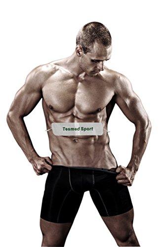 TESMED SPORT: fascia per addominali, aiuta a perdere i centimetri di troppo, adatta a tutti gli elettrostimolatori con cavi a spinotto da 2 mm