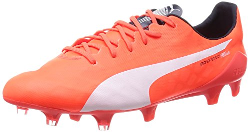 Puma Evospeed Sl Fg, Chaussures de football homme lava blast-white-total eclipse