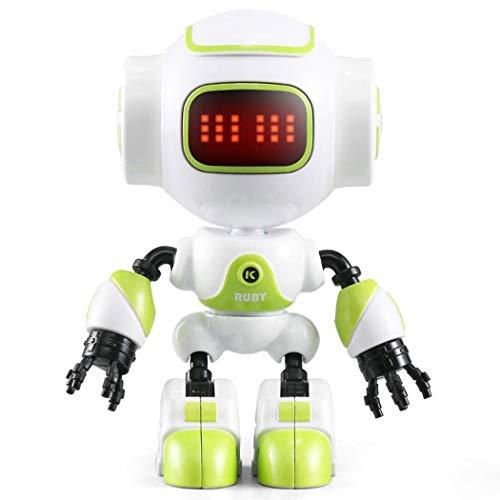 melysEU Robot de Juguete con Control Remoto para niños, Robot Inteligente Interactivo con luz LED, Control táctil y de Sonido, Puede Hablar (Verde)