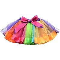 YeahiBaby Niños Rainbow Tutu Skirt Girls Dance Ballet Vestido de Fiesta para el Carnaval Party Dancing