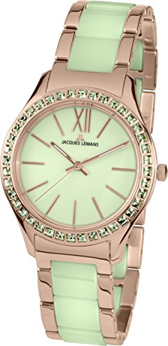 Jacques Lemans Ladies Watch Rome Analog Quartz Stainless Steel Coated 1–1797N