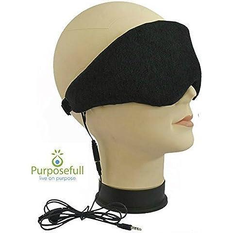 Purposefull - Auriculares del sueño y la máscara de los ojos - la ayuda del sueño y ronquido reductor de