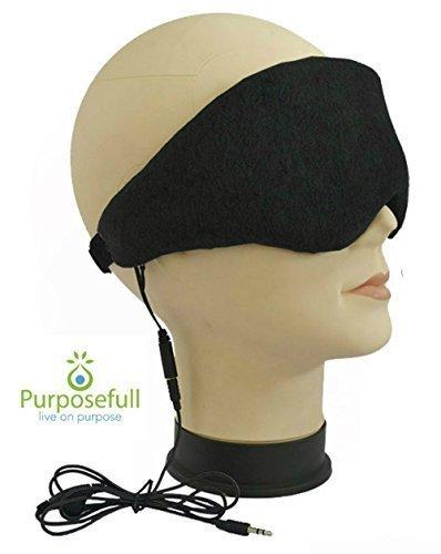 Schlaf Kopfhörer und Augenmaske von Zweck – Schlafhilfe für Reisen und Schnarchen Noise Reducer