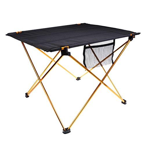 MagiDeal Aluminium klappbar Tisch mit Tragetasche für Mini Garten Buffettisch Grill BBQ im Freien Picknick, Camping, Wandern, Reisen,...