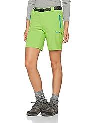 Izas Soar - Pantalón corto de montaña para mujer, color verde claro / turquesa, talla XL