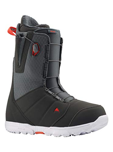 Burton Herren Moto Snowboard Boot, Gray/Red, 8.0