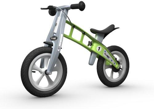 FIRSTBIKE - Bicicleta de Equilibrio con Freno, Modelo Street, Color Verde (L2006)