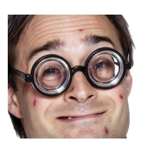 Hausmeister Kostüm - Fu600117 schwarz Damen Herren Doof Brille Spaßbrille