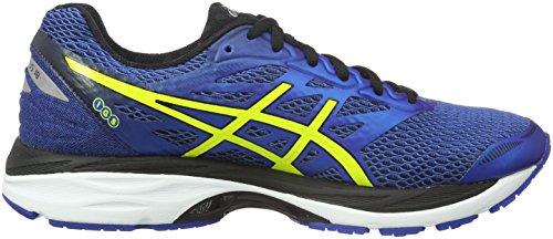 Asics Gel Cumulus 18, Chaussures de Running Entrainement homme Bleu (Blue/Yellow)