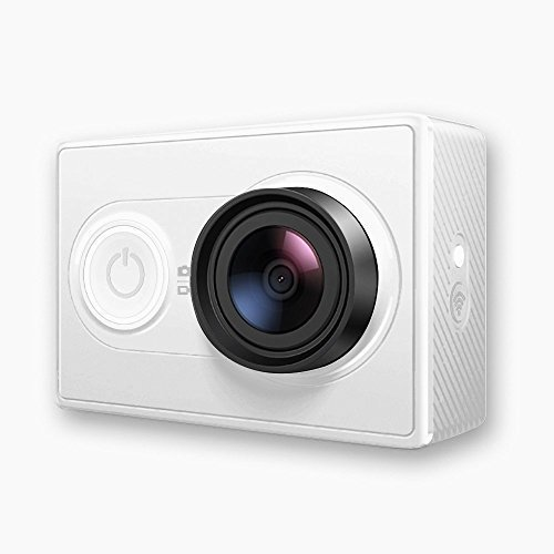 YI WiFi Action Camera ( Edition Internationale) , Ambarella processeur A7LS, capteur 16 MP, Full HD 1080/60 FPS, Wifi, Bluetooth - Blanche