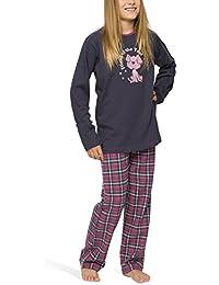 Mädchen Schlafanzug mit Flanellhose - Moonline